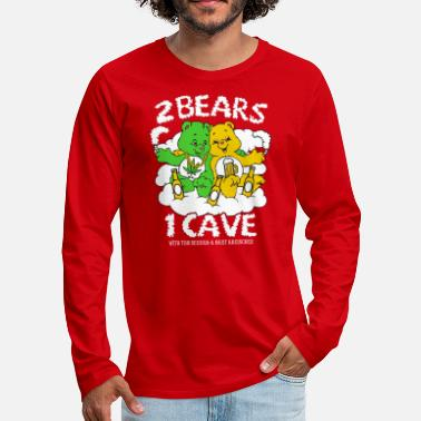 Weed Tent 2 Bears 1 Cave Beer and Weed - Men's Premium Longsleeve Shirt