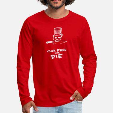 Bourdain Cook Free Or Die - Men's Premium Longsleeve Shirt