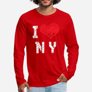 Love I Love New York - Premium Design - Men's Premium Longsleeve Shirt