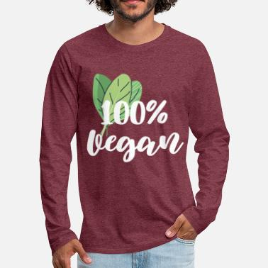 100% Vegan - Men's Premium Longsleeve Shirt