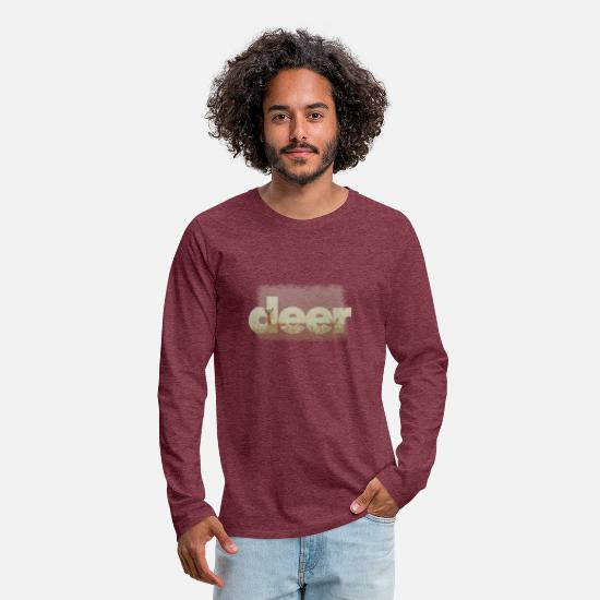 Stag Long-Sleeve Shirts - cute deer outfit stylish big letters gift - Men's Premium Longsleeve Shirt heather burgundy