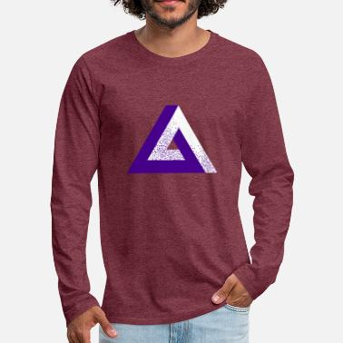 Illusion Impossible Triangle - Men's Premium Longsleeve Shirt