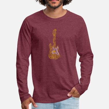 Electric Guitar | Music Rocks - Men's Premium Longsleeve Shirt