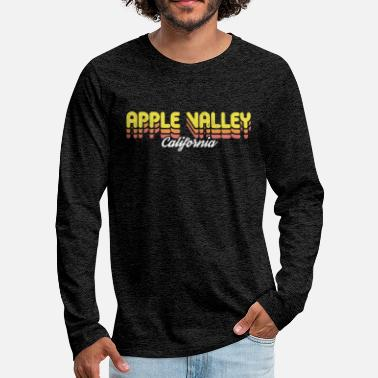 California Retro Apple Valley California - Men's Premium Longsleeve Shirt