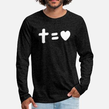 Cross Cross equals love - Men's Premium Longsleeve Shirt
