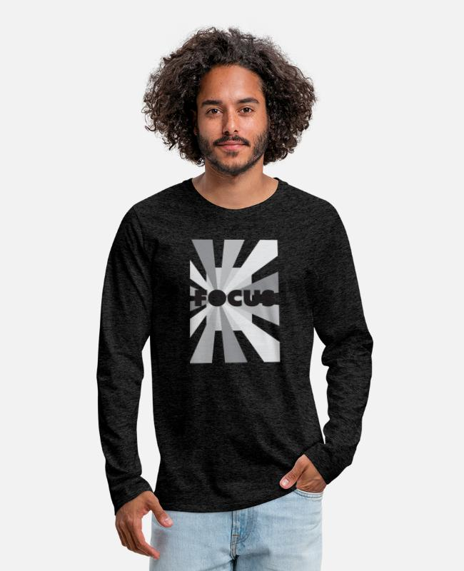 Take Long-Sleeved Shirts - Focus your camera and mind - Men's Premium Longsleeve Shirt charcoal gray