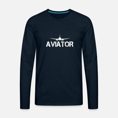 Aviation Aviator - Men's Premium Longsleeve Shirt