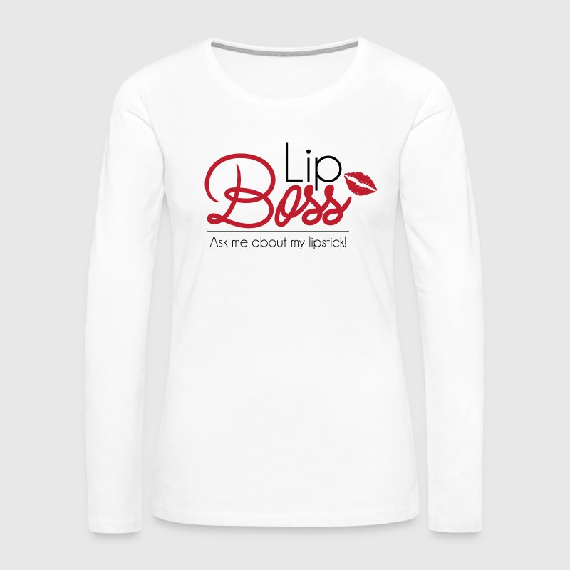 Lip Boss - Red - Women's Premium Long Sleeve T-Shirt