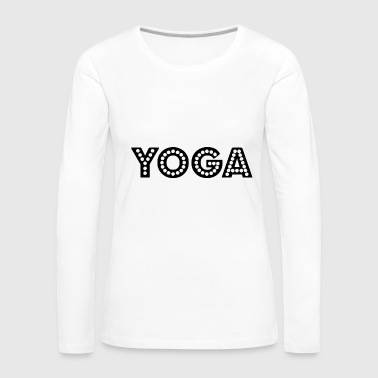 yoga wording - Women's Premium Long Sleeve T-Shirt