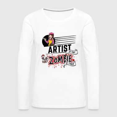 Female Artist - Zombie by night - Women's Premium Long Sleeve T-Shirt