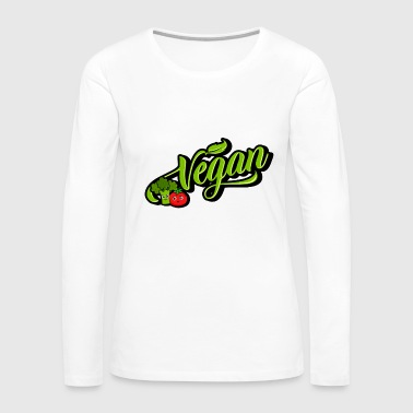 Vegan - vegan (Broccoli Tomato) - Women's Premium Long Sleeve T-Shirt