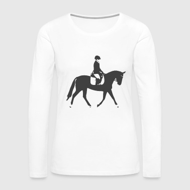 Black Dressage Horse - Women's Premium Long Sleeve T-Shirt