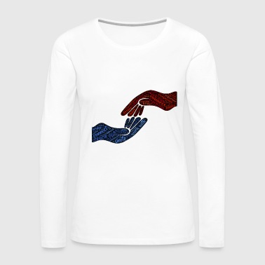 cooperate hand in hand - Women's Premium Long Sleeve T-Shirt