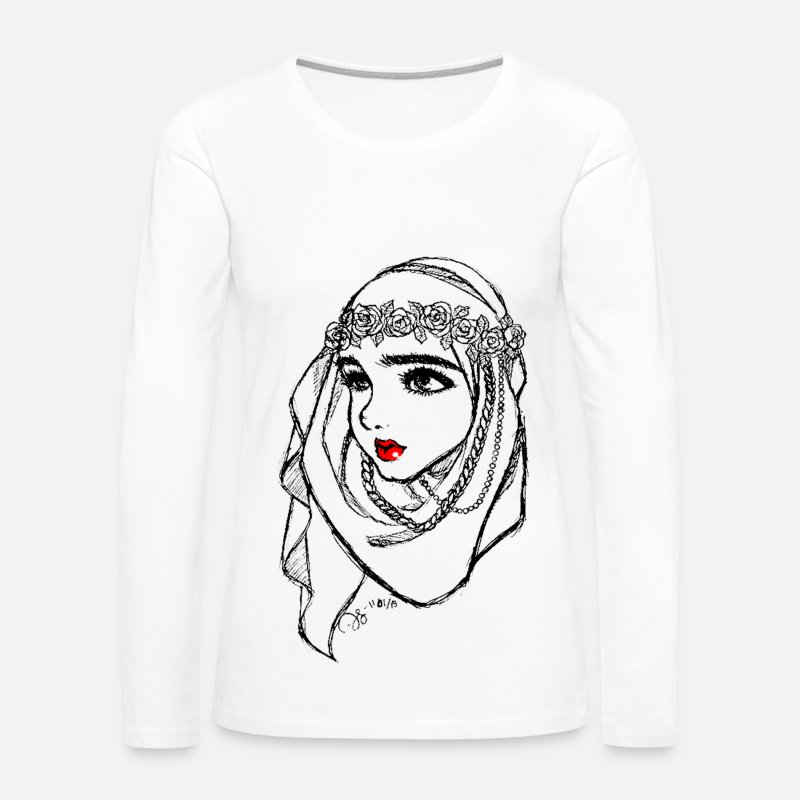 Islam Long sleeve shirts - Hijab Princess - Women's Premium Longsleeve Shirt white