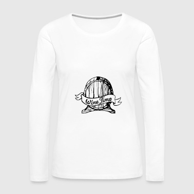 wine time 2 01 - Women's Premium Long Sleeve T-Shirt