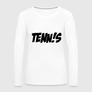 Open tennis wording - Women's Premium Long Sleeve T-Shirt