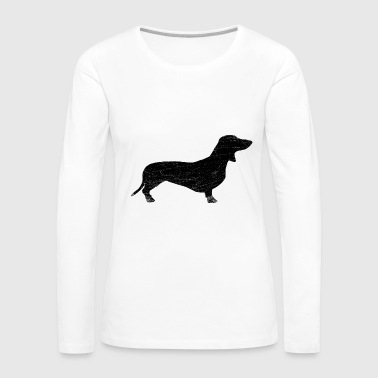 Dachshund black used traces - Women's Premium Long Sleeve T-Shirt