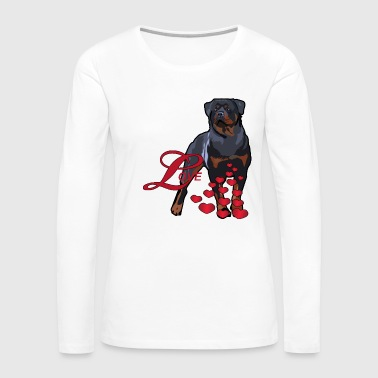Love Is A Rottweiler - Women's Premium Long Sleeve T-Shirt