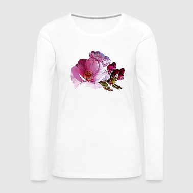 Cherry Blossom and Buds - Women's Premium Long Sleeve T-Shirt