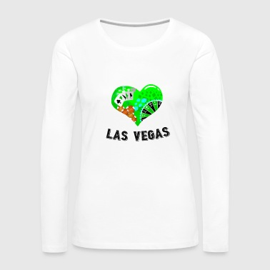Love Las Vegas Heart design 1 - Women's Premium Long Sleeve T-Shirt