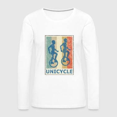Retro Vintage Style Unicycle Bike Cyclist Cycle - Women's Premium Long Sleeve T-Shirt