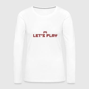 Let s Play - Gaming - Total Basics - Women's Premium Long Sleeve T-Shirt