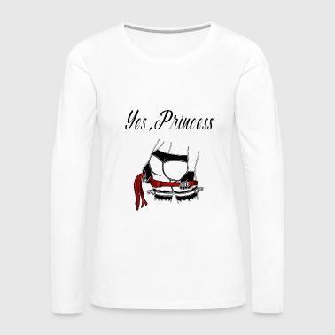 Domina BDSM Princess Bondage Brat Domina Whip - Women's Premium Long Sleeve T-Shirt