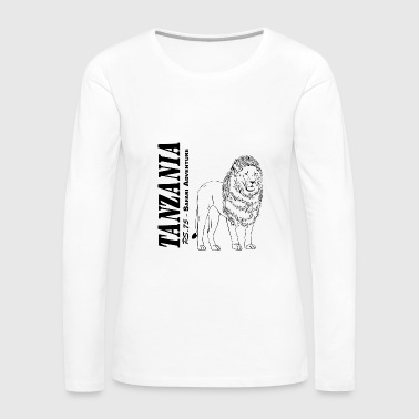 Tanzania - Lion  - Women's Premium Long Sleeve T-Shirt