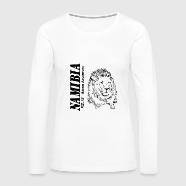 Namibia - Lion - Women's Premium Long Sleeve T-Shirt