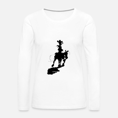 Luke Skywalker Lucky Luke Silhouette - Women's Premium Long Sleeve T-Shirt