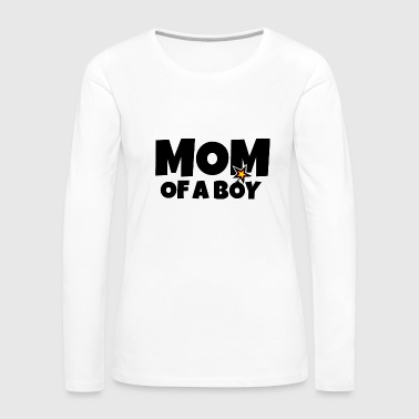 Explosion Mom of a Boy Mothers Day Design - Women's Premium Long Sleeve T-Shirt