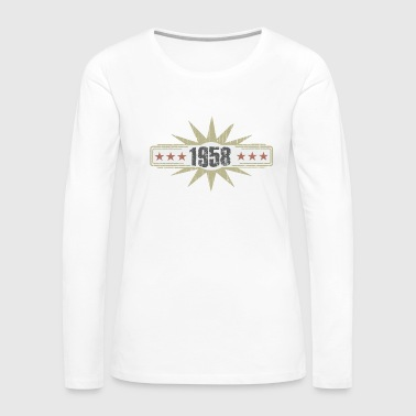 Vintage Birthday Shirt 1958 - Women's Premium Long Sleeve T-Shirt