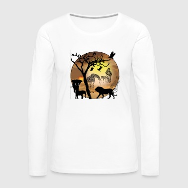 Safari African Jungle Wild Animals t-shirts - Women's Premium Long Sleeve T-Shirt