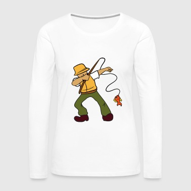 Dabbing Dancing Fisherman Fishing - Women's Premium Long Sleeve T-Shirt