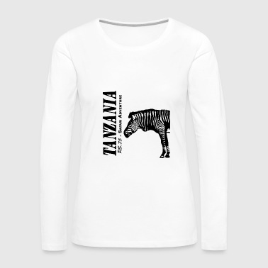 Tanzania - Zebra - Women's Premium Long Sleeve T-Shirt