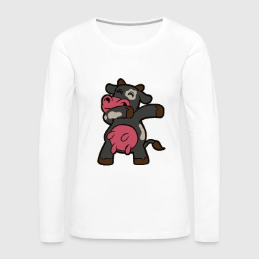 Dabbing Cow - Women's Premium Long Sleeve T-Shirt