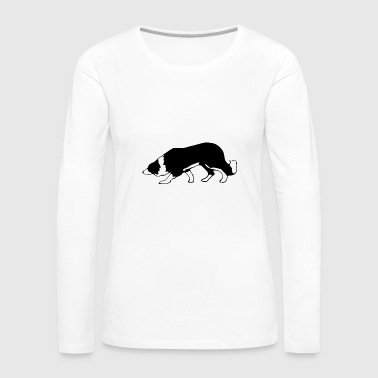 border collie - Women's Premium Long Sleeve T-Shirt