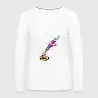 Quill and Ink - Women's Premium Long Sleeve T-Shirt