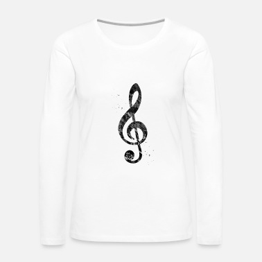 Treble Treble Clef - Women's Premium Long Sleeve T-Shirt