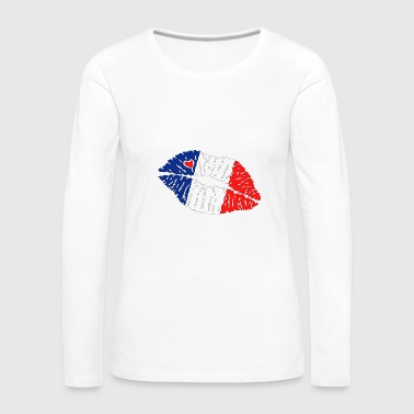 Lips Flag Kiss Lips France - Women's Premium Long Sleeve T-Shirt