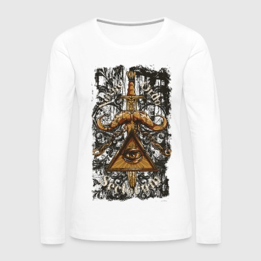 NOVUS ORDO SECLORUM - new order of the ages eye - Women's Premium Long Sleeve T-Shirt