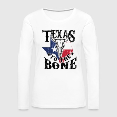 Cattle Skull Art for Texas Women and Men Cattle Farmer Light - Women's Premium Long Sleeve T-Shirt