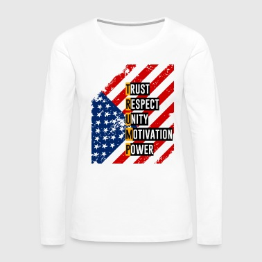 ReElect Trump for President. Keep America Great! Light - Women's Premium Long Sleeve T-Shirt