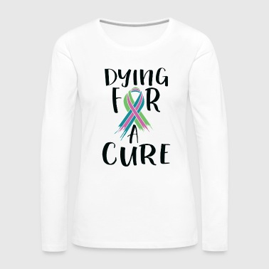 Metastatic Breast Cancer Awareness Art For Women Light - Women's Premium Long Sleeve T-Shirt