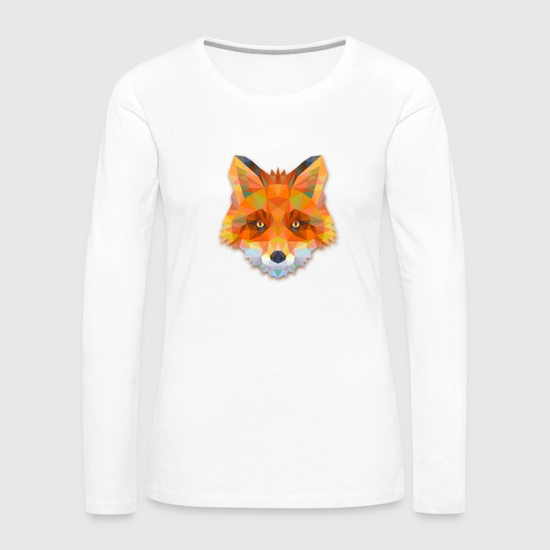Geometric Fox - Women's Premium Long Sleeve T-Shirt