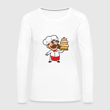 Cake Baker Bakery Candy Sweets Tarts Confiserie - Women's Premium Long Sleeve T-Shirt
