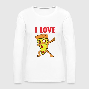 Dabbing Dab Fast Food Pizza Slice Italia - Women's Premium Long Sleeve T-Shirt