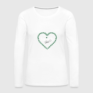 Irish Beer Irish Girl in Heart Made of Clovers - Women's Premium Long Sleeve T-Shirt