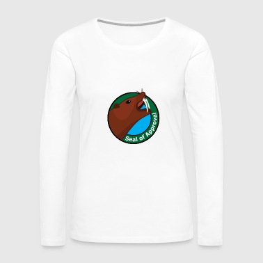 Seal of Approval Sea Elephant Walrus Sounds badge - Women's Premium Long Sleeve T-Shirt
