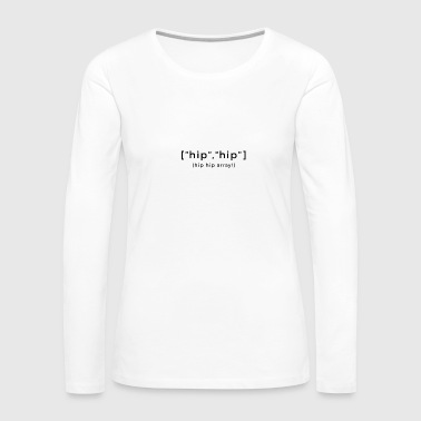 Programming array joke - Women's Premium Long Sleeve T-Shirt